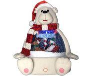 Snow Globe Plush Polar Bear