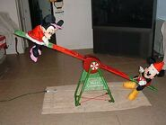 GEMMY ANIMATED PROP DISNEY TEETER TOTTER OVER 7FT LONG L@@K AT PICS
