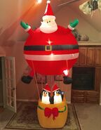 Gemmy Prototype Christmas Hot Air Balloon Inflatable Airblown