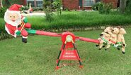 Gemmy Animated Holiday Teeter Totter Seesaw 7' Christmas Display