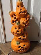 Halloween-Foam-Blow-Mold-GEMMY-Stacked-Pumpkin-Light