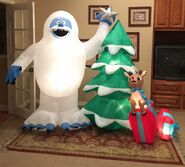 Gemmy Prototype Chirstmas Rudolph and Bumble Inflatable Airblown