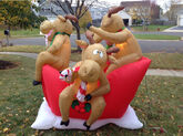 Gemmy 6' Moose on Sleigh Christmas Airblown Inflatable