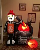 Gemmy Prototype Halloween Spare Ribs Inflatable Airblown