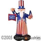 6' AIRBLOWN INFLATABLE UNCLE SAM WITH FLAG AND BANNER
