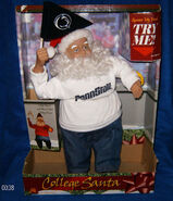College Santa- Penn State Nittany Lions-Musical Santa Cheers & Dances