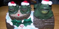Christmas Frog trio