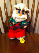 Gemmy rock n roll hard metal santa claus