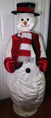 Gemmy 5' Life Size Animated Singing Dancing Christmas Snowman - Animated Karaoke