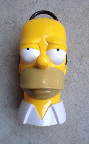 Gemmy Animated Homer Simpson Head RARE 2005