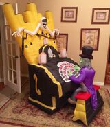 Gemmy Prototype Halloween Organ Player Inflatable Airblown