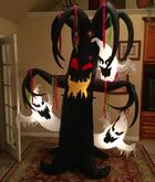Gemmy Prototype Halloween Tree with Ghosts Inflatable Airblown