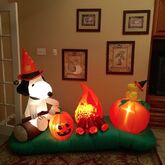 Gemmy Prototype Peanuts Halloween Campfire Inflatable Airblown