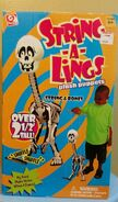 Gemmy String-A-Lings Plush Puppets String and Bones Skeleton Over 2' Tall