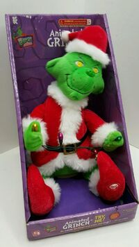 The Grinch Singing Moving w lights VERY RARE Christmas Collectible by Gemmy NRFB