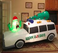 Gemmy Prototype Christmas Ghostbusters Car Inflatable Airblown