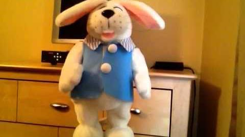 Gemmy hip swinging Peter Cottontail