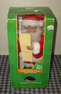 Vintage 1996 Gemmy North Pole Collection 12'' Santa Checking His List 9