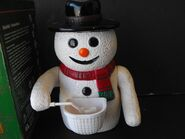 Vintage Gemmy Bubble Blowing Table Top Snowman 2