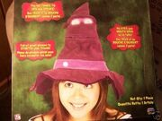 HALLOWEEN TALKING HAT WITCHES MYSTIC EYES OPEN!! NIB