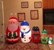 Gemmy Prototype Christmas Nesting Dolls Scene Inflatable Airblown
