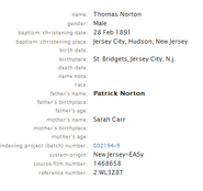 Norton-Thomas 1891 birth index