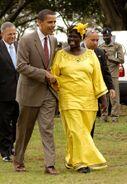 Maathai and Obama in Nairobi