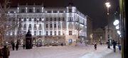Vörösmarty Square, snowy winter, Budapest