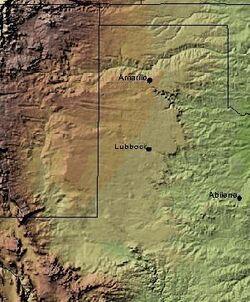 LlanoEstacadoShadedRelief