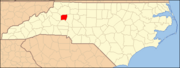 North Carolina Map Highlighting Alexander County.PNG