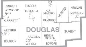 Map of Douglas County Illinois
