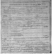 Ada Augusta Freudenberg (1884-1957) death certificate