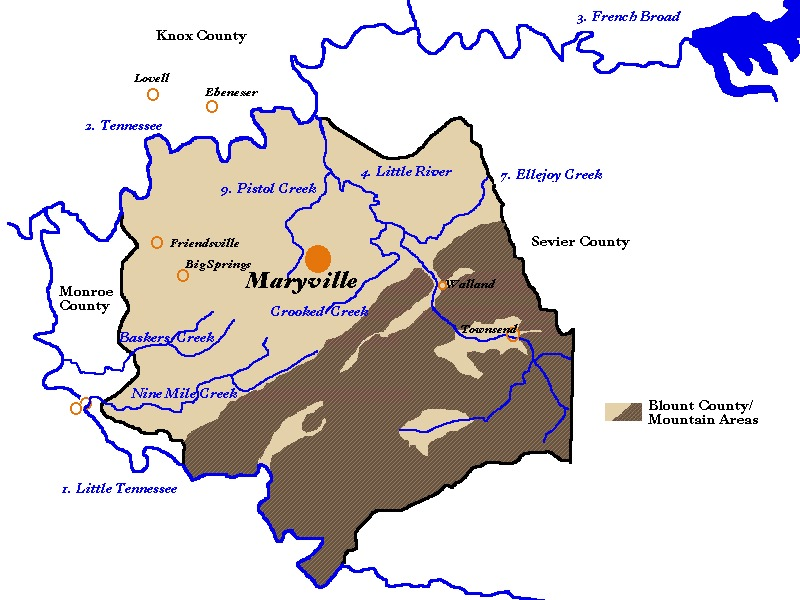 Schematic Map of Blount County