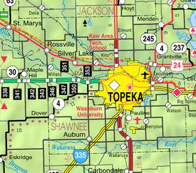 Map of Shawnee Co, Ks, USA