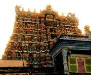 Ornate, multi-story temple