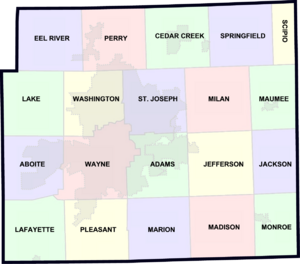 US-IN-Allen County Townships
