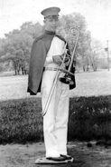 John Borland With His Trombone circa 1940-1942
