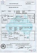 William Marks (1803-1861) Death Certificate