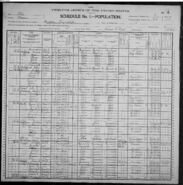 Cyrus Elmer Butler 1900 census entry