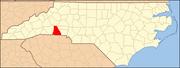 North Carolina Map Highlighting Cleveland County.PNG