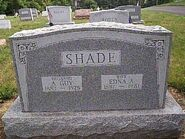 Shade albert edna tombstone