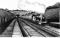 Artist impression of Staple Hill tunnel, Bristol - by Tom Maloney©