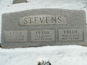 Frank Stevens (1871-1950) Central Cem Kalamazoo MI