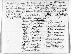 Revolutionary War Document-Military-company of Allsott