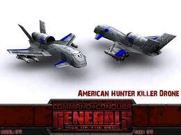 USA Hunter Killer Drone Render