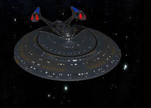USS Columbia Hull