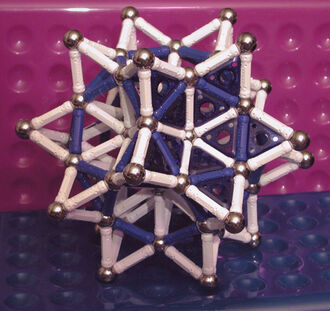 Stellated Rhombic Triacontahedron (plus panels) - R