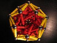 Elongated rhombic triacontahedron c