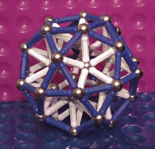 Icosidodecahedron (rod support) - R