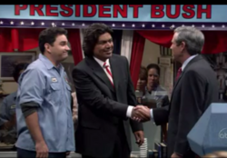 Dubya, Dad and Dating part 1 - George meets the President
